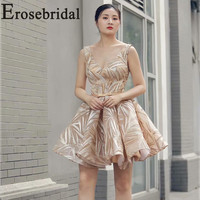 Erosebridal New Arrival 2019 V Neck Evening Dress Lace up Backless Evening Gown Ball Gown Homcoming Dress Party Dress Plus Size