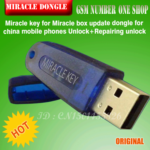Miracle key for Miracle box update dongle for china mobile phones Unlock+Repairing unlock