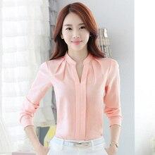 Chiffon blouses New Spring Women shirt Fashion Casual Long-sleeved