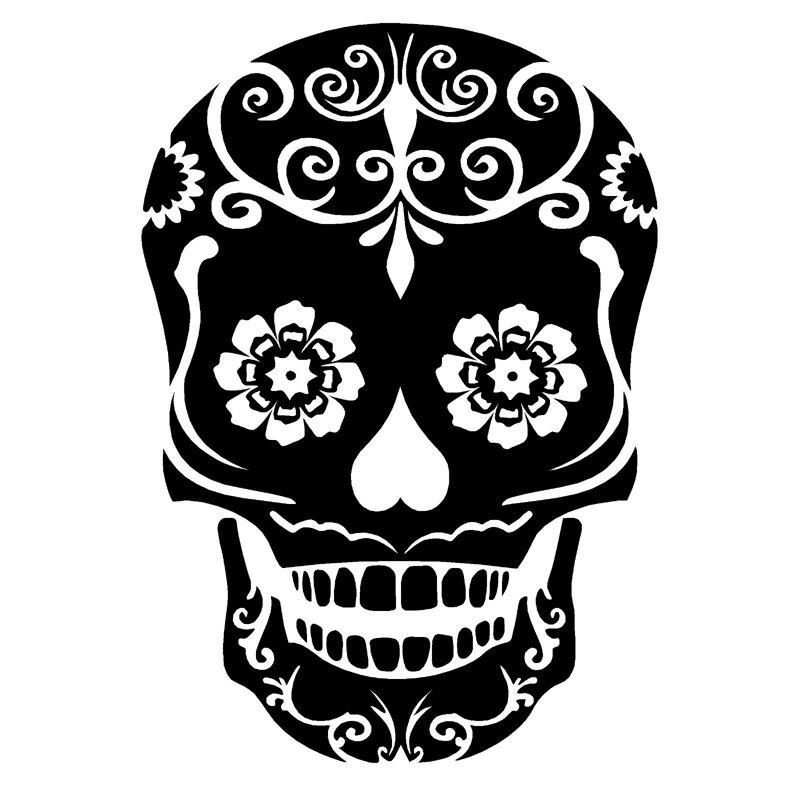 12 6cm18 1cm erasure day of the dead skull fashion car styling decor