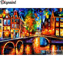 Dispaint Full Square/Round Drill 5D DIY Diamond Painting Tree house Embroidery Cross Stitch 3D Home Decor A10559