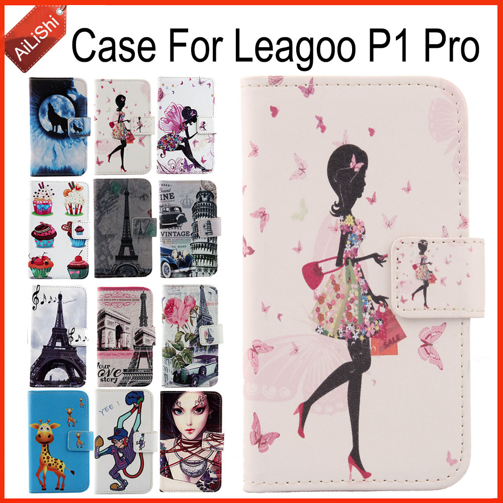 AiLiShi Factory Direct! Case For <font><b>Leagoo</b></font> <font><b>P1</b></font> <font><b>Pro</b></font> Luxury Flip Painted Leather Case Exclusive 100% Special Phone Cover Skin+Tracking image
