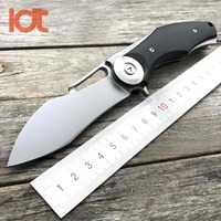 LDT Dark Knight Folding Knife Real D2 Blade G10 Handle Camping Tactical Knife Outdoor Hunting Survival