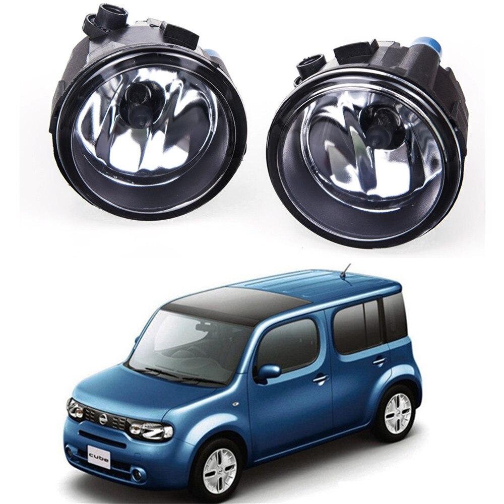 For NISSAN CUBE Z12 Hatchback 2010-2014  Car styling Fog lights Front fog lamps halogen1SET for suzuki sx4 gy hatchback 2006 2012 car styling fog lamps halogen fog lights 1set
