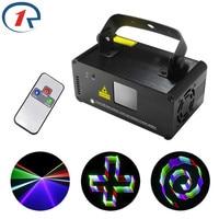 ZjRight 400mW IR Remote 3D Effect Laser Light Projection DMX512 Red Green Blue Laser Stage Light dj light ktv bar disco lighting