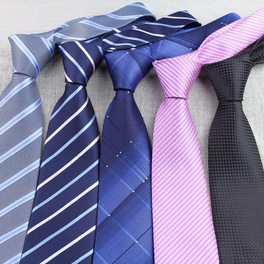 Mens Business Tie Formal Striped Dot Jacquard Wedding Necktie 8CM Classic Corbata Neckwear Gravata