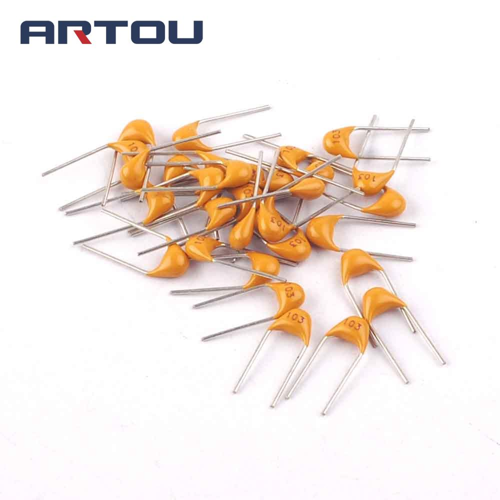 US $1 7 |100PCS 0 01UF 10NF 50V 103 Multilayer Monolithic Ceramic  Capacitor-in Capacitors from Electronic Components & Supplies on  Aliexpress com |