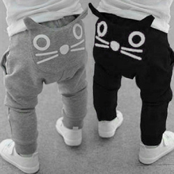 Baby pants new 2017 children clothing baby boys girls cat long trousers toddler infant harem pants.jpg 250x250