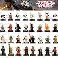 Blocos de construção Darth Vader Yoda Han Solo Obi Wan Clones BB-8 R2-D2 BB8 brinquedos Caçoa o Presente