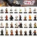 Bloques de construcción de Darth Vader Yoda Han Solo Obi Wan Clones BB-8 R2-D2 BB8 juguetes Embroma el Regalo
