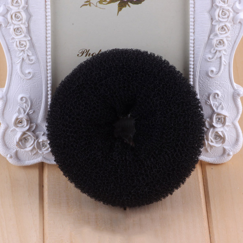 1 Pcs Magic Lady Sponge Donut Bun Maker Hair Styling Tool Soft Hair Styler Shaper Hair Rollers For Women Lady Styling Tool in Hair Rollers from Beauty Health