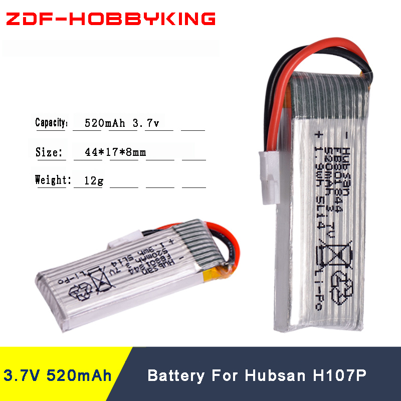 6pcs Rc Lipo Battery 3.7V 520mAh Lipo Battery With 4 in1 USB Charger for Hubsan H107P RC Camera Drone Accessories 7 4v 2700mah 10c battery 1 in 3 cable usb charger set for hubsan h501s h501c x4 rc quadcopter