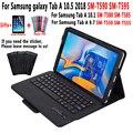 Отсоедините чехол с клавиатурой Bluetooth для Samsung Galaxy Tab A 10 5 2018 A6 10 1 2016 9 7 2015 SM-T590 SM-T595 SM-T580 SM-T585 SM-T550