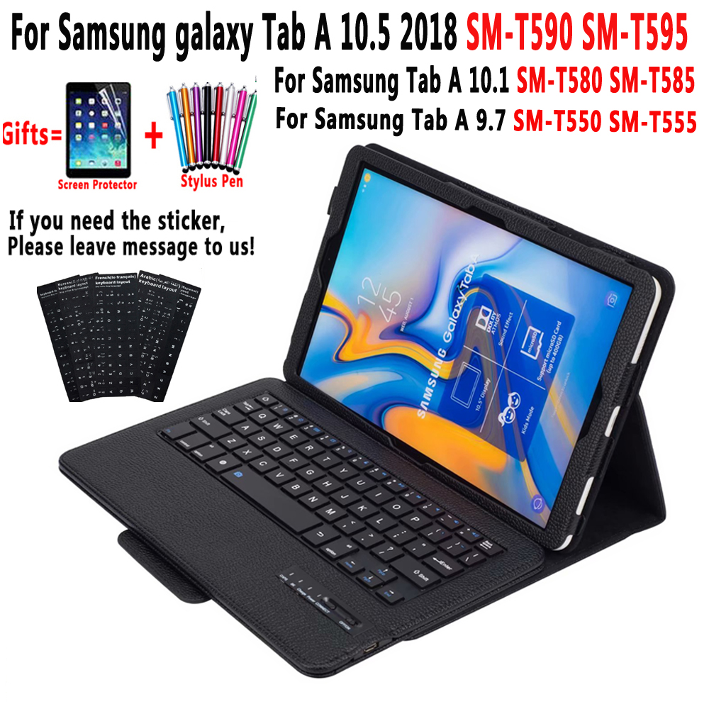 Detach Bluetooth Keyboard Case for Samsung Galaxy Tab A 10.5 2018 A6 10.1 2016 9.7 2015 SM-T590 SM-T595 SM-T580 SM-T585 SM-T550Detach Bluetooth Keyboard Case for Samsung Galaxy Tab A 10.5 2018 A6 10.1 2016 9.7 2015 SM-T590 SM-T595 SM-T580 SM-T585 SM-T550