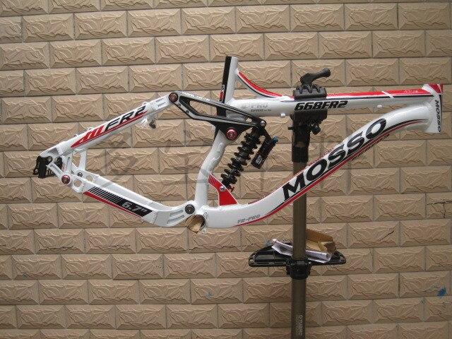 MOSSO 668FR2 26inch aluminum mountain bike frame Full suspension frame Mountain downhill suspension frame DNM shock absorber