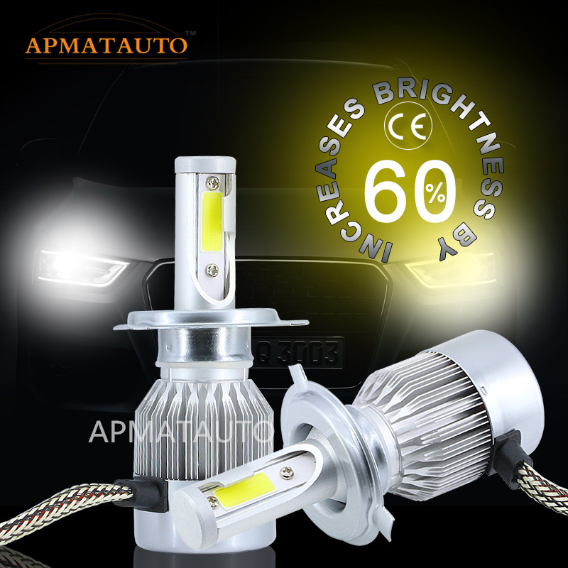 1x 50W 8000LM 6000K H7 H4 HB2 9003 High Low Beam Xenon White  LED Headlight Kit For Car Motocycle Automobile SUV Fog Light 12V 12v led light auto headlamp h1 h3 h7 9005 9004 9007 h4 h15 car led headlight bulb 30w high single dual beam white light