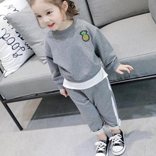 Baby Girls Clothing Sets 2019 Spring Autumn Long Sleeve Children Tracksuit Boys Clothes Set Kids Sport Suits 2 3 4 5 6 7 Years
