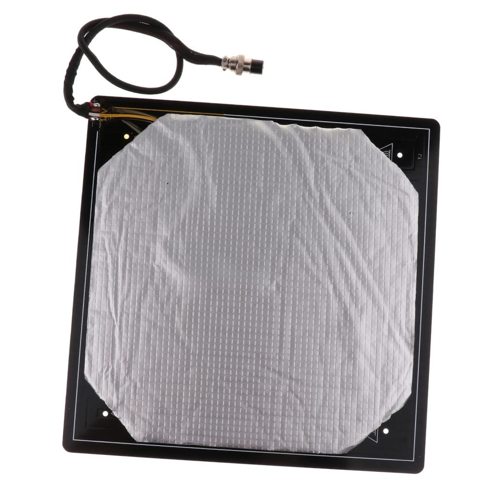 Lit chauffant 12 V 310*310*3 MM MK3 300*300 400*400 lit thermique en Aluminium + coton d'isolation pour les pièces de lit chaud d'imprimante 3d CR10 cr-10s S4