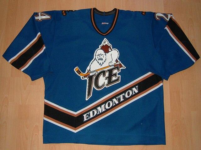 MeiLunNa Custom WHL Edmonton Ice Jerseys 25 Kris Knoblauch 10 Mike Green 24 Burt 28 Stewart Home Road Sewn On Any Name NO.Size ohgr edmonton