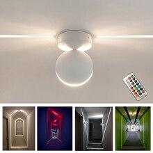 מודרני LED תקרת אור RGB Dimmable קיר אור מקורה תאורת מרפסת חדר שינה KTV מלון מסדרון משטח הר שלט רחוק