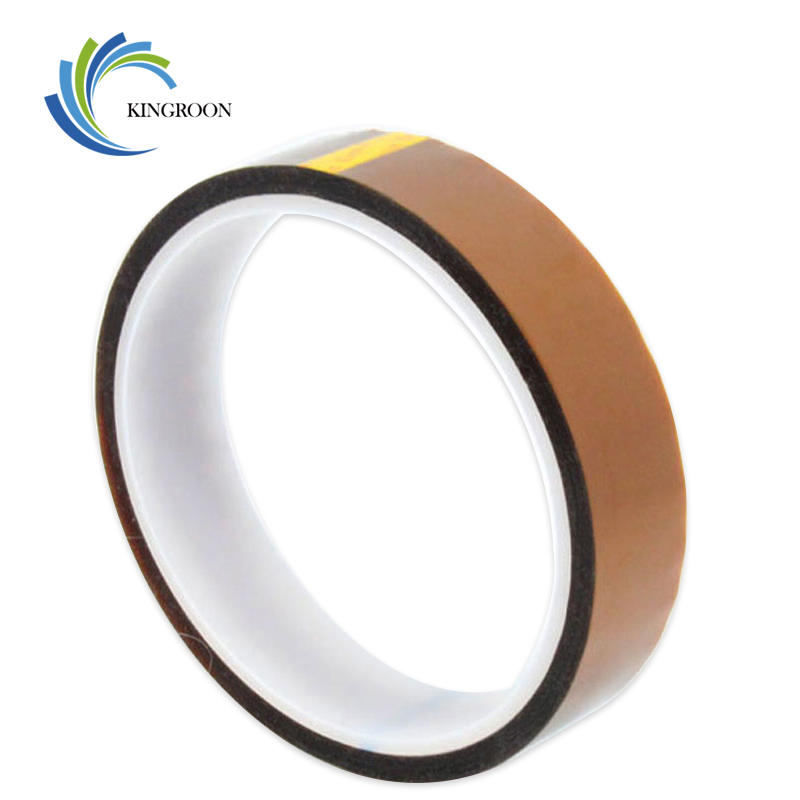 20mm x 33m High Temperature Resistant Tape Heat Dedicated Adhesive 3D Printers Parts Heat-Resistant Part Polyimide Accessories