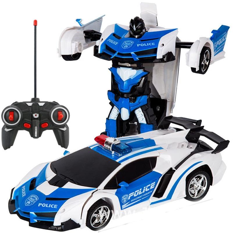2 в 1 Электрический RC автомобиль трансформации роботы дети мальчики игрушки на открытом воздухе дистанционного Управление спортивные деформации автомобиля модели-роботы игрушка 2