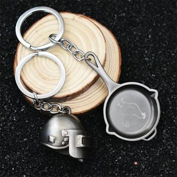 Брелок металлический шлем и сковородка pubg 1