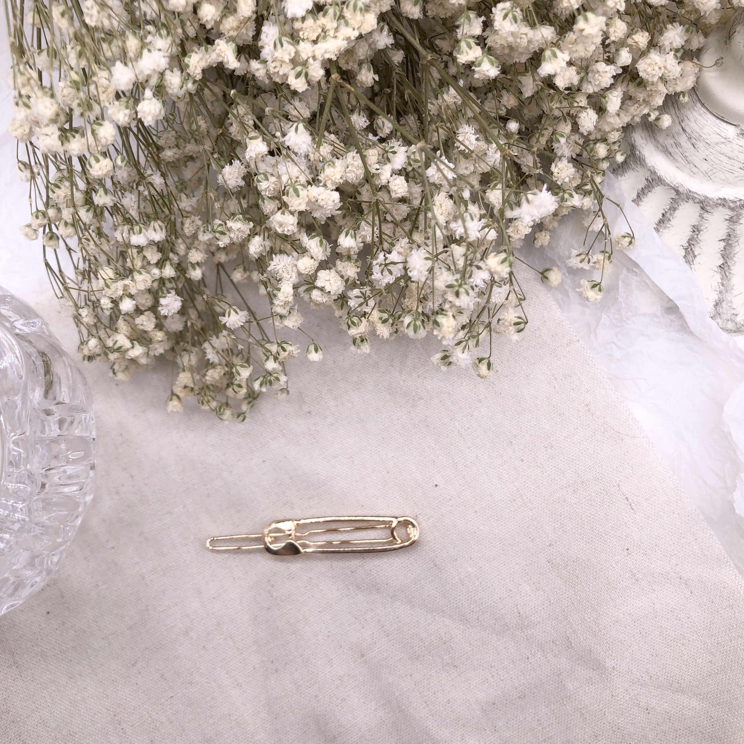 Indah Perhiasan Rambut Klip Logam Bentuk Hiasan Rambut Dihiasi Katak Klip Wanita Fashion Hadiah