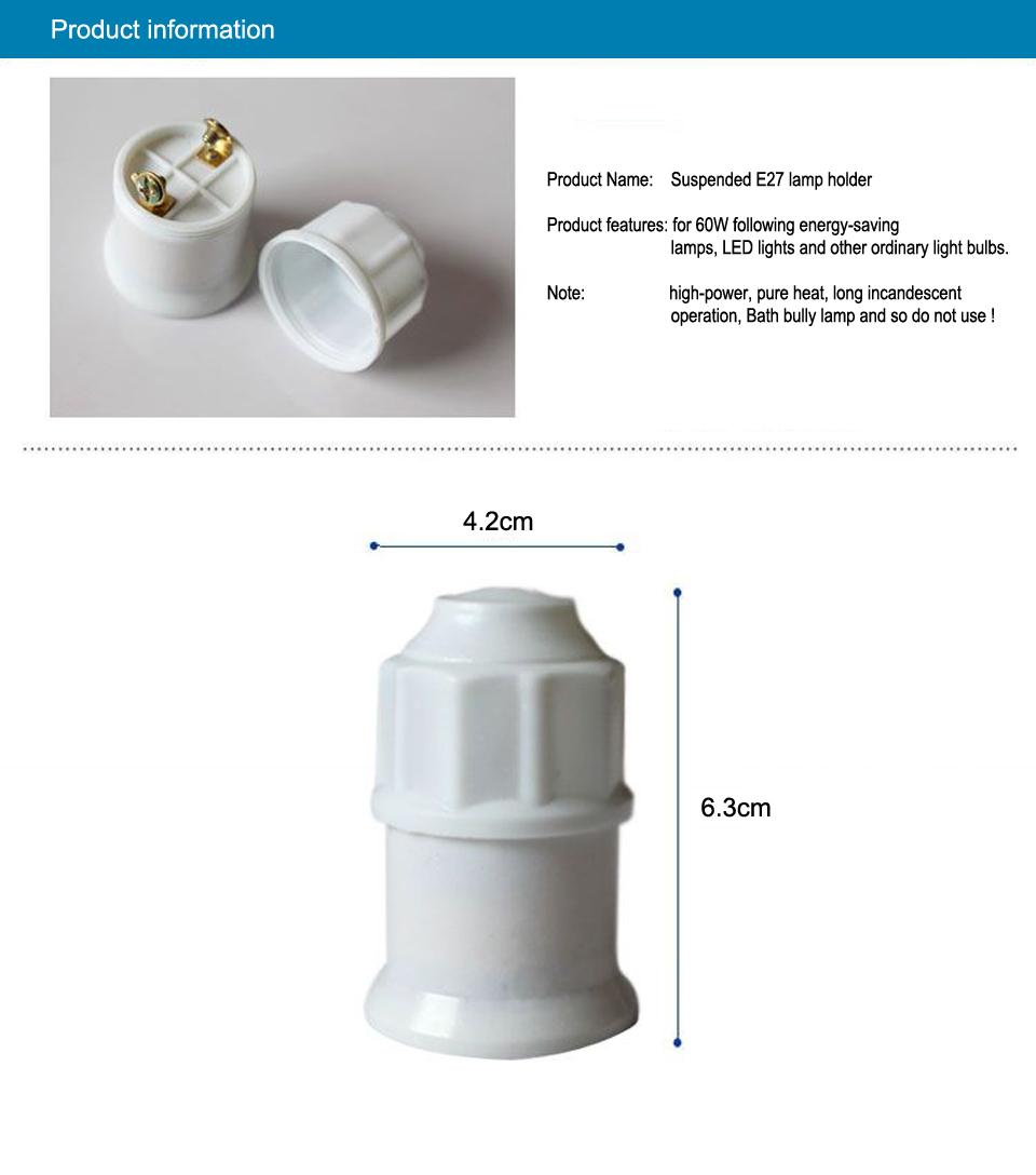 Douille E27 en c/éramique avec /œillet en m/étal pour suspension filetage Edison RoHS jusqu/à 250 V et 4 A de la marque ISOLATECH.