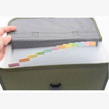 13 Pockets Expanding File Folder A4 Organizer Portable Business Filing Bag Office Supplies Document Holder Carpeta Archivador marble a4 13 layered expanding wallet big capacity filing bag document file folder multi function business office supplies bags