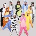 Adult Unicorn Pajamas Onesie Cosplay Animal Pajamas One Piece Pyjamas Women Men Child Dinosaur Stitch Panda Pijama Unicornio