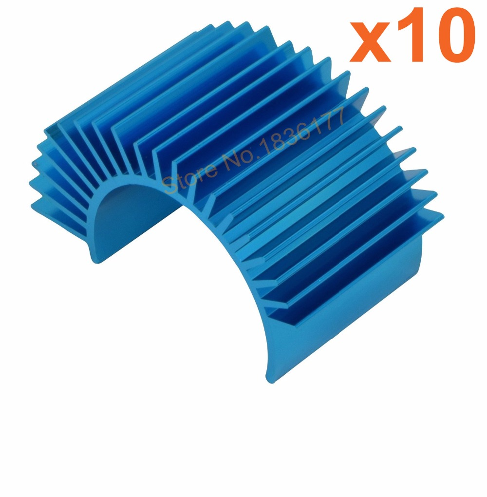 10pcs Aluminum Motor Heat Sink Cover For 540 550 Size RC Car Parts Blue/ Purple free shipping rc car 1 10 tram 540 550 3650 motor with fans radiator heat sink for 3650 3660 3670 3674 540 550 size motor