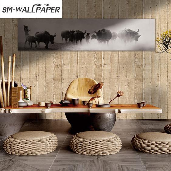 Phantasie Gute Preis Grosshandel Tapeten Holz Design Wohnzimmer Tapete