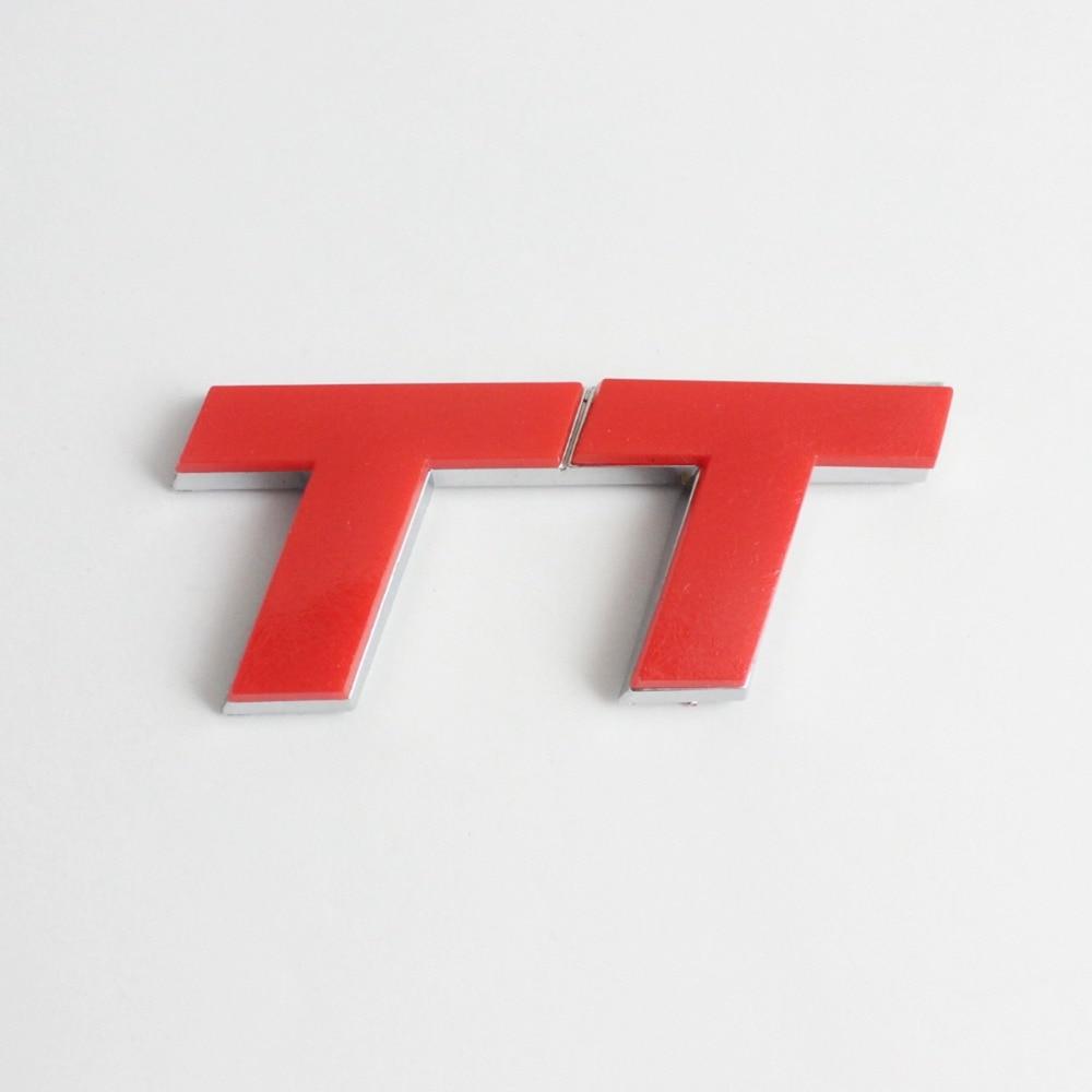Logo honda rouge - 3d Rouge Tt Logo Chrome Badge Autocollant Embl Me Decal Audi Course R China
