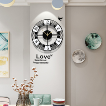 3D Silent Round Practical Wall Clock Modern Design Stickers Metal Pointer Living Room Circle Hanging Clocks Free Shipping