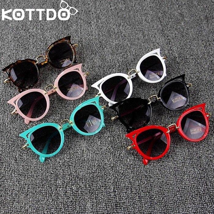 KOTTDO Kids Sunglasses Girls Brand Cat Eye Children Glasses Boys UV400 Lens Baby Sun Glasses Cute Eyewear Shades Goggles Okulary