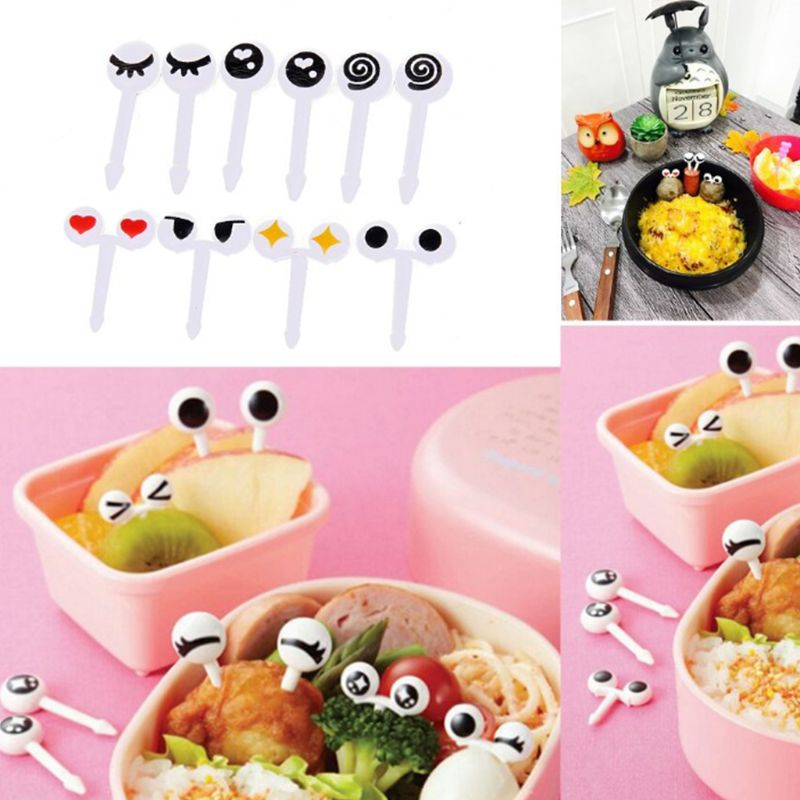 Have An Inquiring Mind Bento Lunch Box Accessories Food Picks Number 10 Pcs Kitchen Tools & Gadgets