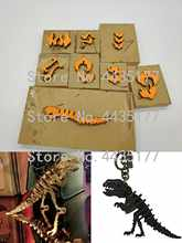 Japan Steel Blade Rule Die Cut Steel Punch Dinosaur Skeleton Cutting Mold Wood Dies for Leather Cutter for Leather Crafts(China)
