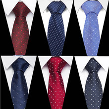 New Jacquard Woven Neck Tie For Men Classic Check Ties Fashion Silk Polyester Mens Necktie Wedding Business Suit Plaid
