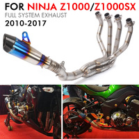 z1000 exhaust muffler Full System Motorcycle Exhaust Pipe Escape Moto Front Middle link pipe For kawasaki z1000 2010 2017
