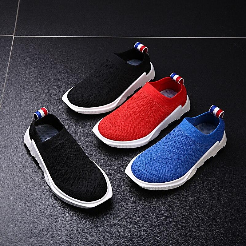 Дети Кроссовки Обувь для мальчиков Обувь для девочек Спорт Бег Прогулки дети Спортивная обувь Run дышащие сетчатые Chaussure Enfant черный, красный ... ...