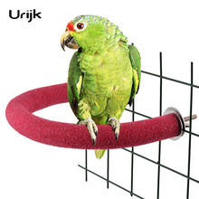 Birds Chewing Toys Parrot Cage Bite Toy For Bird Playing Bamboo Weaving Cotton Rope And Paper Weaving Hanging Toy Funny(China)