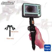 4way OD 4.0 мм инспекции эндоскопа промышленности 4.3 ''видео эндоскоп цифровой видеонаблюдения бороскоп Камера 1.5 м dr4540f