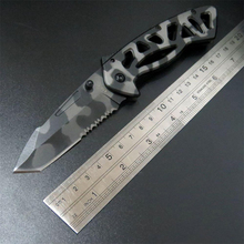 New arrived 870 mini folding Camping Folding Knife Pocket Hunting Tactical Diving Survival Outdoor Tool knife
