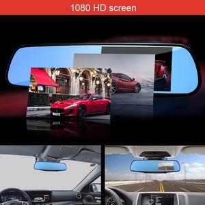 Image 3 - dvr dash camera dash cam car dvr mirror dual lens rear view camera rearview dashcam auto recorder video full hd front and rear