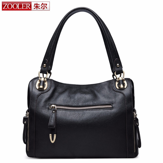 ZOOLER 2017 New Arrive Women Shoulder Bag Genuine Leather Bags Handbags for Women Vintage Handbag Motorcycle Shoulder Bags a sac