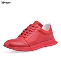 Yomior Luxury Brand Spring Summer Popular Casual Shoes High Quality Men Fashion Flats Breathable Loafers Red Shoes Sneakers