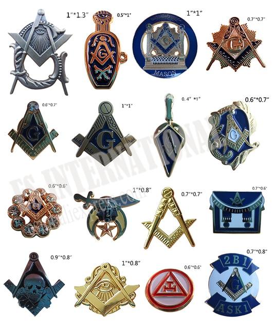 Bán lẻ Thuộc Về Thợ Hồ Ve Áo Chân Kim Loại Badge Mason Freemason