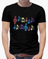 Spring Summer Berserk T Shirt Men Black Musical Notes Short Sleeves Character Cotton Hip Hop Mens