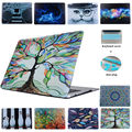 Rubberized Sleeve Crystal Laptop Case For Air 11 13 Painted Tree Design Pattern Hard Case For Macbook Pro 13 15 New Retina 12